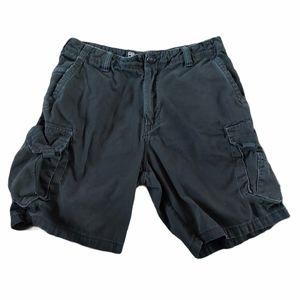 Billabong Men's Cargo Shorts Black Size 34